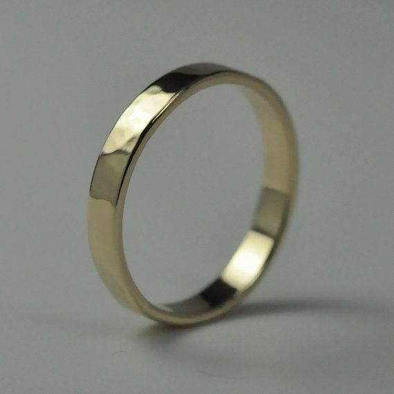 Etsy listing at https://www.etsy.com/listing/57498345/14k-yellow-gold-hand-forged-medium-band