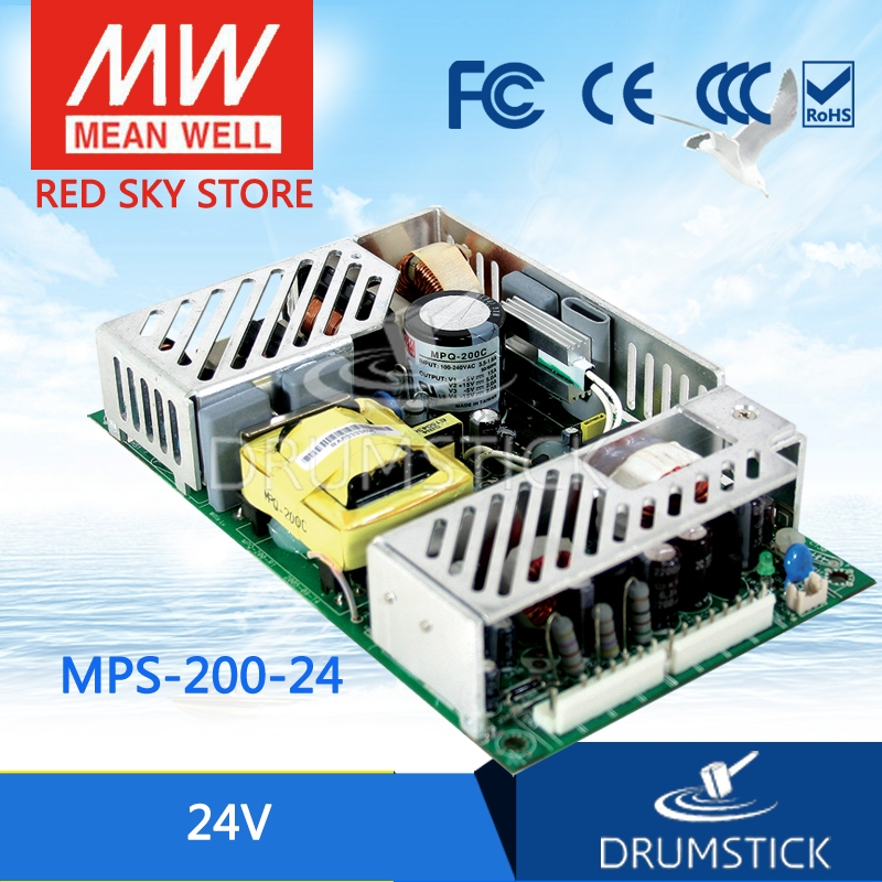 145.46$  Buy now - http://alizpv.worldwells.pw/go.php?t=32775697135 - Worthwhile Free shipping MEAN WELL MPS-200-24 2Pcs 24V 8.4A meanwell MPS-200 24V 201.6W Single Output Medical Type