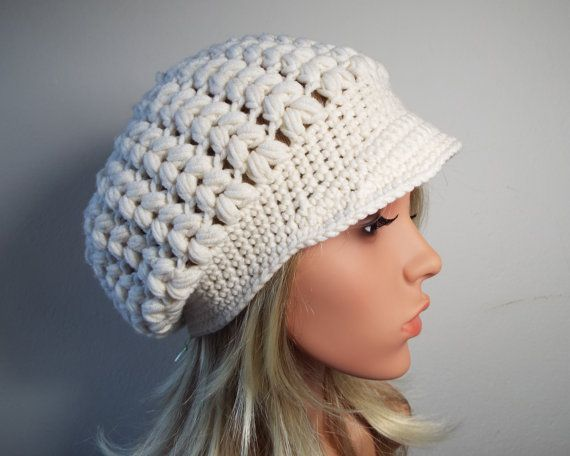 Newsboy-wool-crochet cap-umbrella cap-ballon-Bakerboy-cap-crochet ...