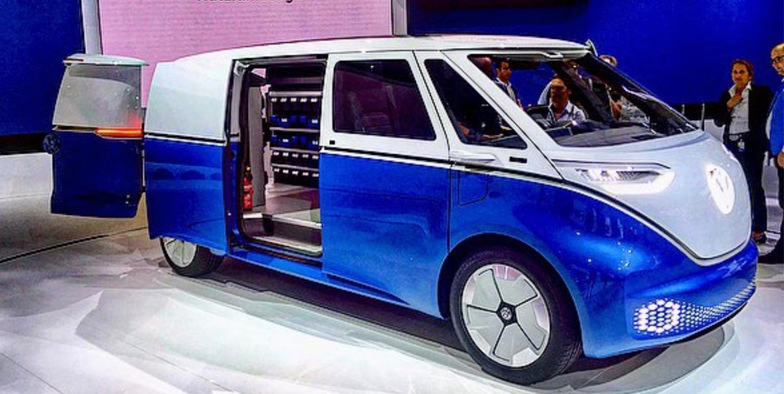 Vw Unveils A Series Of New Commercial All Electric Vehicles I D Buzz Cargo E Cabby Cargo E Bike And More Electric Cars Commercial Vehicle Vehicles