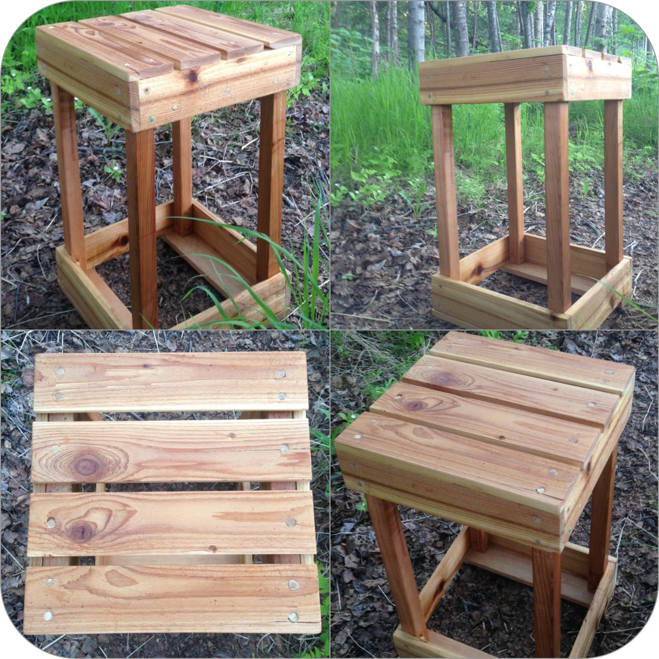 DIY Pallet End Table made with recycled cedar wood ...