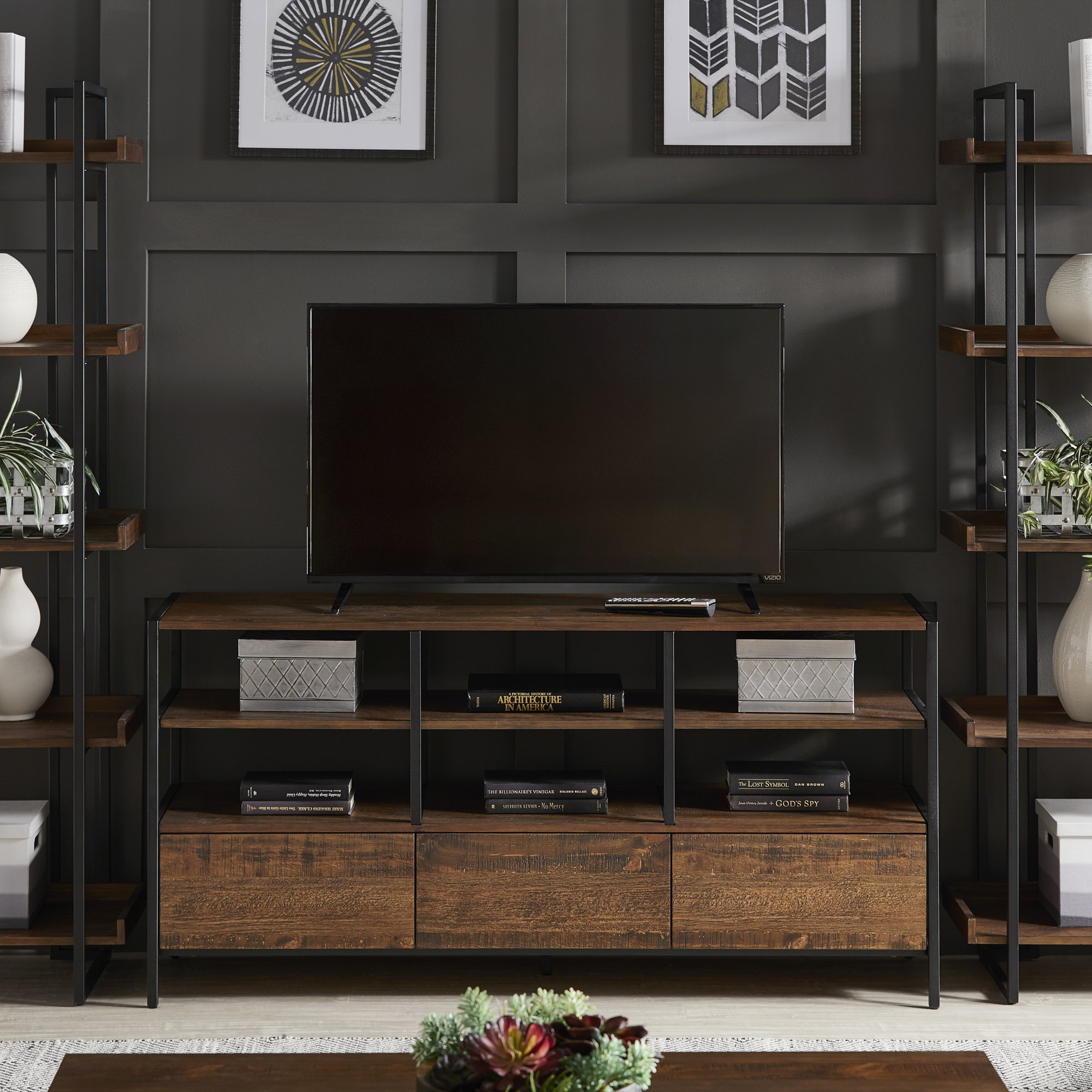 49 Corey Rustic Brown Tv Stand Console Tables By Inspire Q Modern