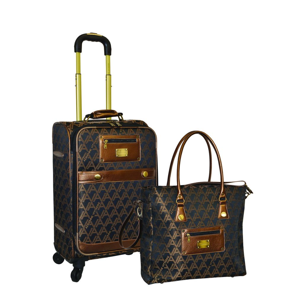 e4256c96aabd Adrienne Vittadini 2-piece Carry-on Fashion Spinner Luggage Set - Overstock™  Shopping - Great Deals on Adrienne Vittadini Two-piece Sets
