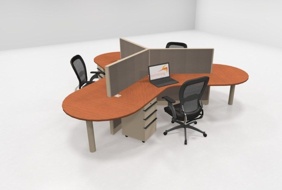 Knoll 120 Degree 48h Workstations Boomerangusa Quality