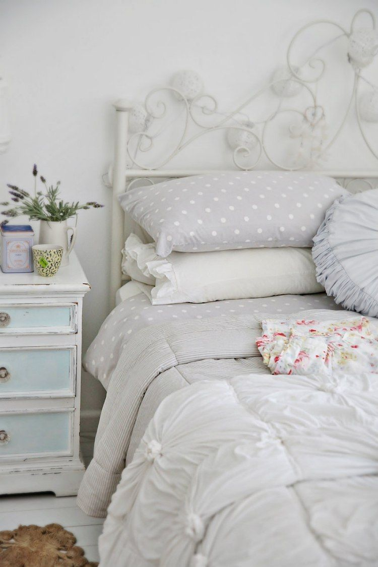 chambre blanche en 65 super idées de meubles et décoration | shabby