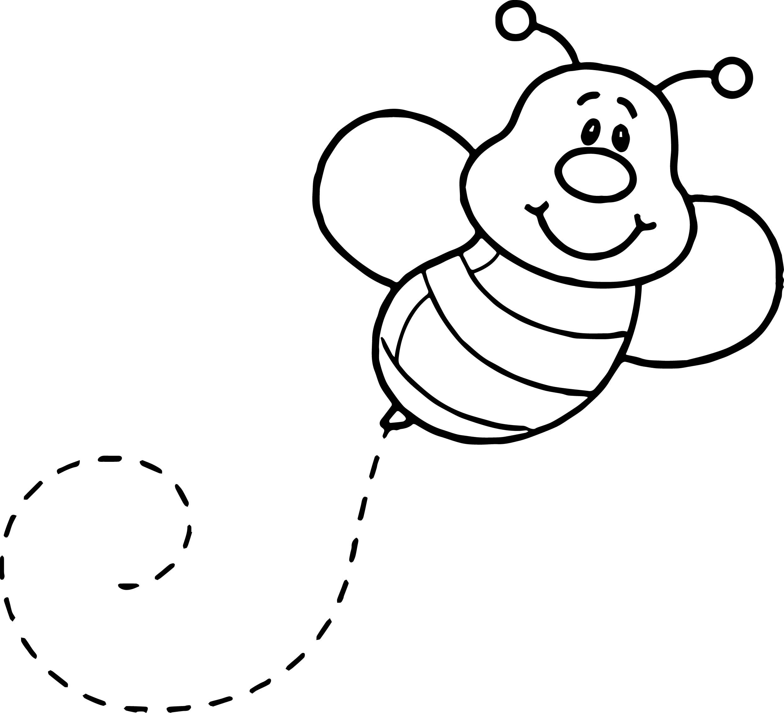 Nice Basic Fly Bee Coloring Page Bee Coloring Pages Coloring