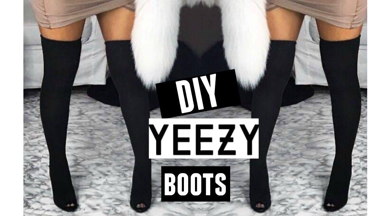 d7a2f94629fbf DIY YEEZY INSPIRED THIGH HIGH BOOTS - YouTube | DIY Fashion | Yeezy ...