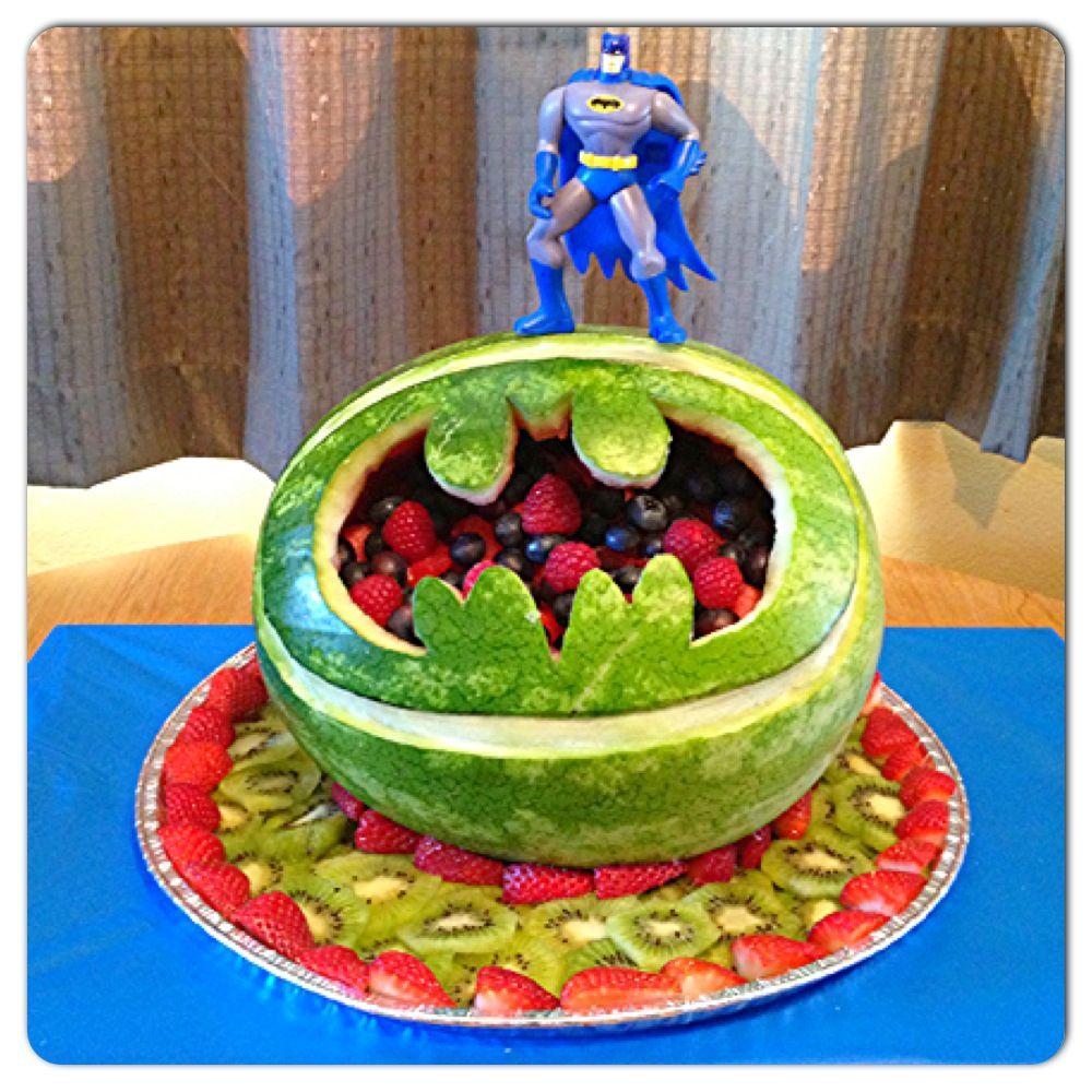 Batman watermelon carving :)   Culinary is an art   Pinterest ...