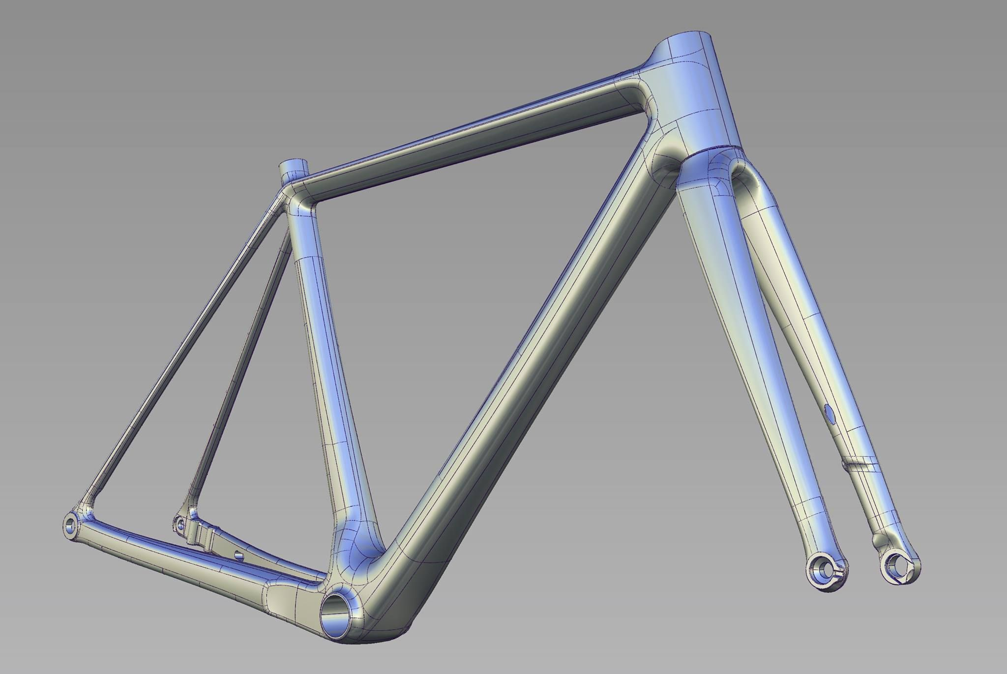 Bicycle Model Bike Frame Technical Illustration Bicycle Frame