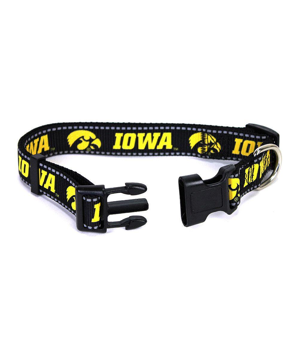 Look at this #zulilyfind! Iowa Hawkeyes Dog Collar by MRL Sports #zulilyfinds