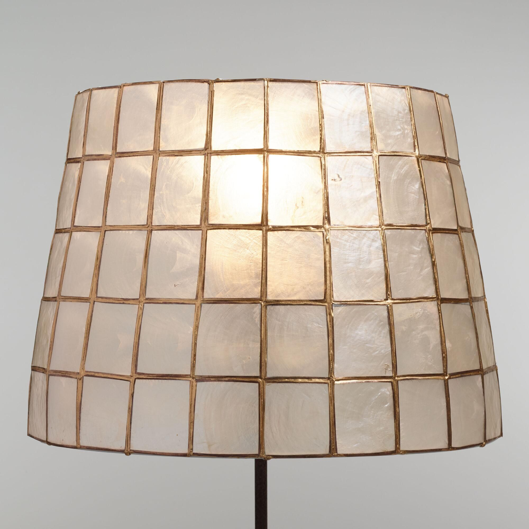 Gold Capiz Tapered Table Lamp Shade Capiz Shell By World Market Lampshadeideassimple Wall Lamp Shades Metal Lamp Shade Lamp Shade
