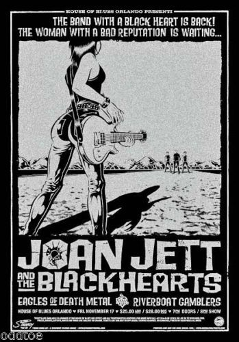 Joan Jett and The Blackhearts Original Signed Numbered Concert Poster 2006 Hot | eBay