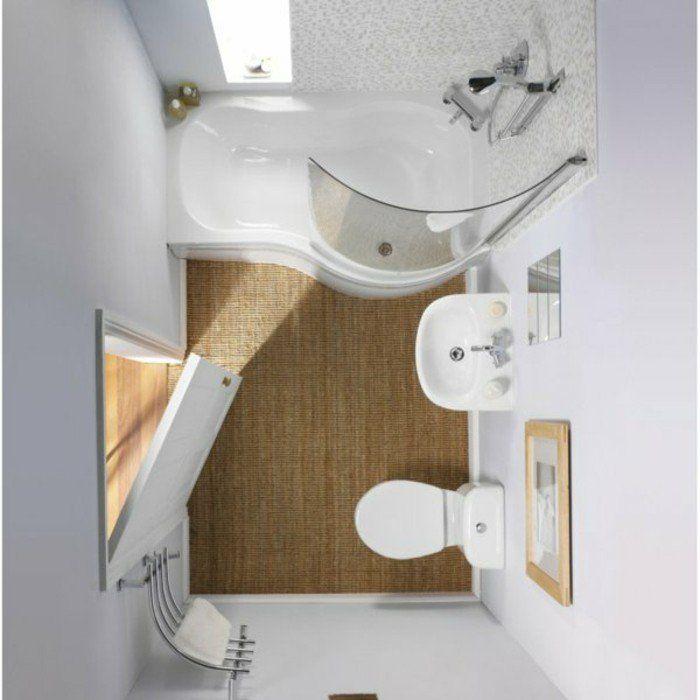 Comment aménager une salle de bain 4m2? | Salle de bain 3m2, Salle ...