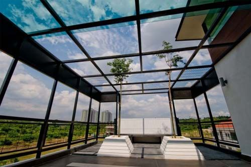 House  Glass Roof ...