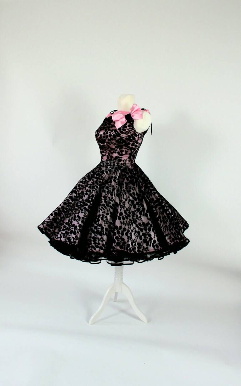 festive petticoat dress, petticoat dress, 50s prom dress ...
