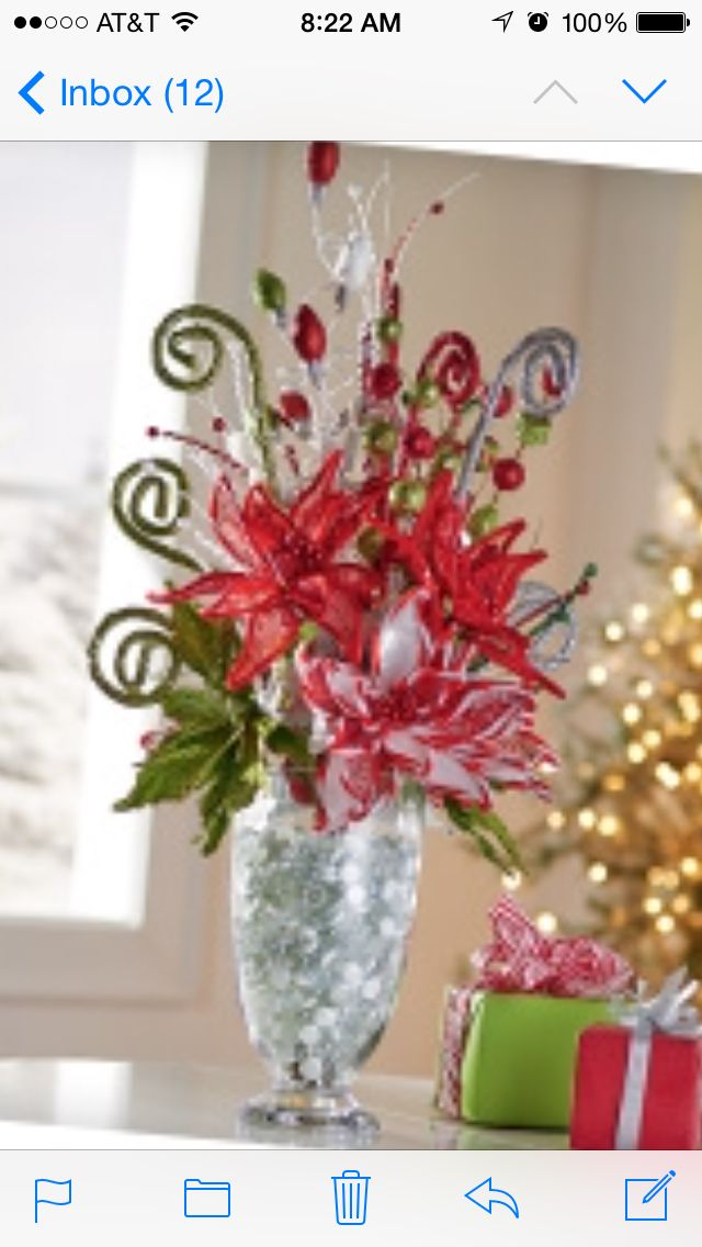 christmas vase decoration - Christmas Vase Decorations
