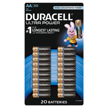 Duracell Ultra Power Aa Alkaline Batteries 20 Pack In 2021 Puppy Pads Training Rubber Floor Tiles How To Roll Towels