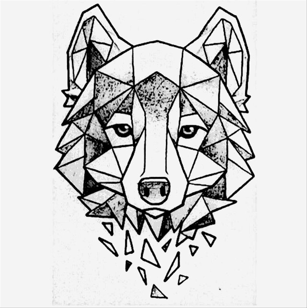 Tattoo Tatuajedelobo Tatoowolf Tattoowolf Tatuajegeomet Geometric Wolf Geometric Art Geometric Drawing