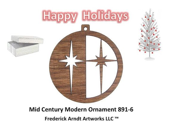 8916 Mid Century Modern Ornament by FredArndtArtworks on Etsy, $14.95