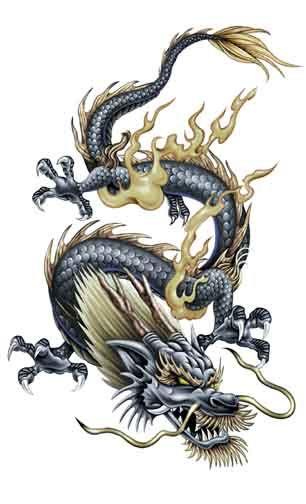 Magical Dragon Temporary Tattoo Temporarytattoos Temporarytattoo T4aw Tatuajes De Dragones Japoneses Tatuaje De Dragon Japones Tatuajes Dragones
