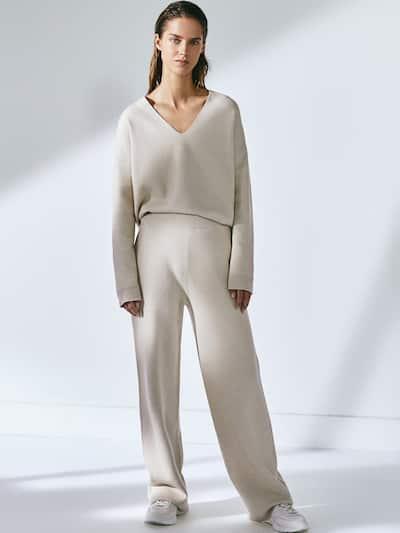 Knit Trousers Women Massimo Dutti Fashion Trousers Women Massimo Dutti Women