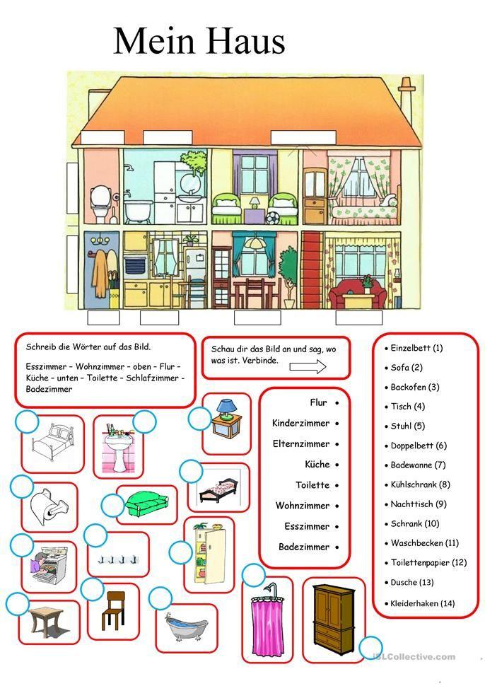 mein haus schule german language learn german e deutsch. Black Bedroom Furniture Sets. Home Design Ideas
