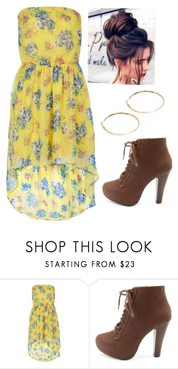 """Untitled #1638"" by shell26 ❤ liked on Polyvore featuring Charlotte Russe and GUESS by Marciano"