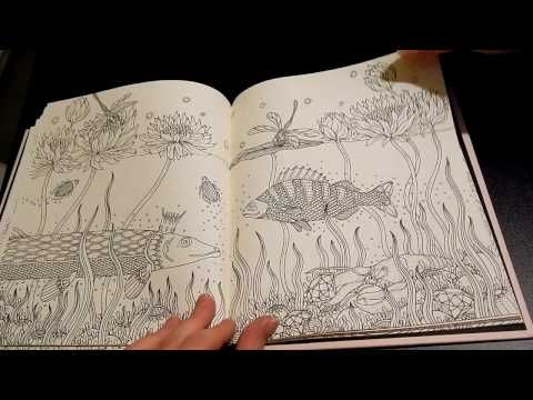 Coloring Book Flip Through Summer Nights By Hanna Karlzon Youtube Lapices De Colores Lapices Colores