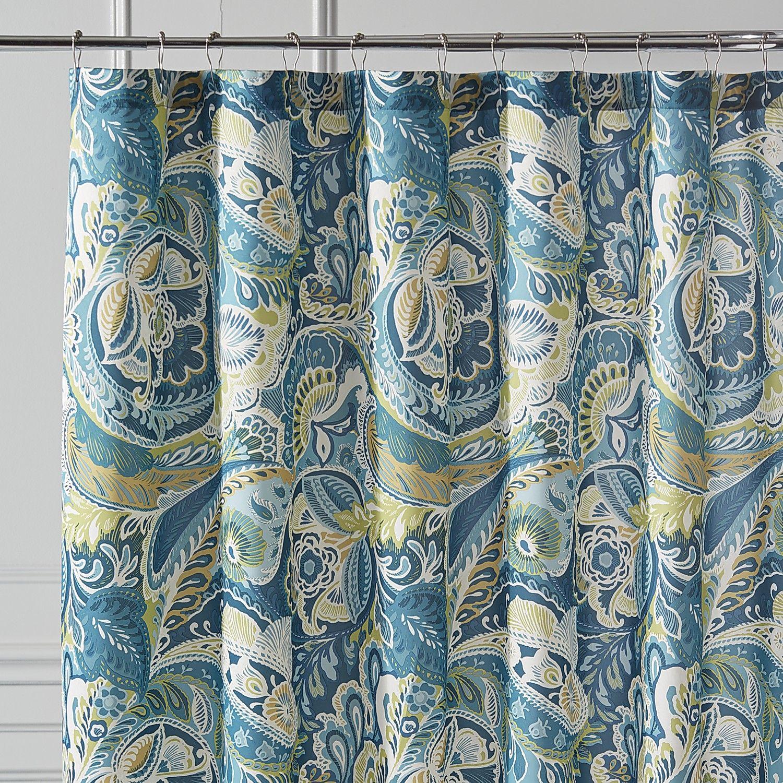 Vibrant Paisley Shower Curtain