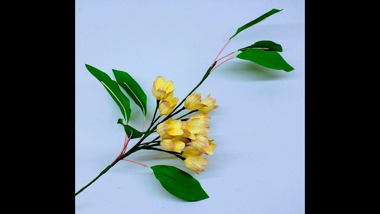 How to make crepe paper flowers enkianthus campanulatus flower