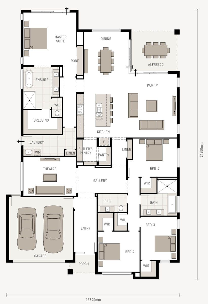 faire un plan maison Here is a great floor plan that will suit most residential blocks. This  home has