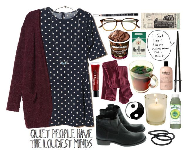 """""""Nobody ever warned me"""" by style-collage ❤ liked on Polyvore featuring philosophy, H&M, Hunter, Garrett Leight, lito, Monki, Victoria's Secret and Goody"""