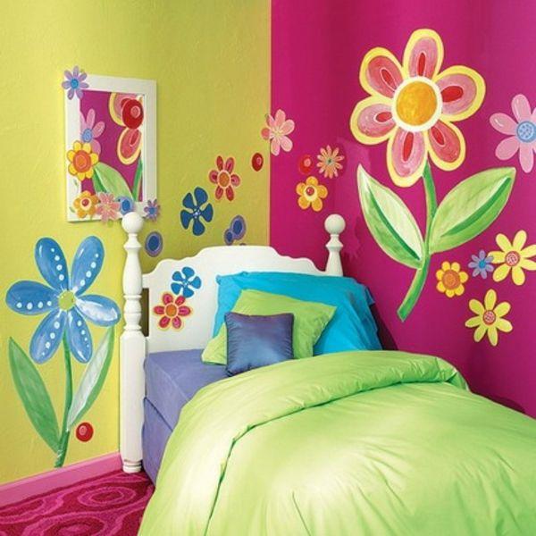 kinderzimmer wandbemalung blumenjpg 600600 pixel - Wandbemalung Kinderzimmer