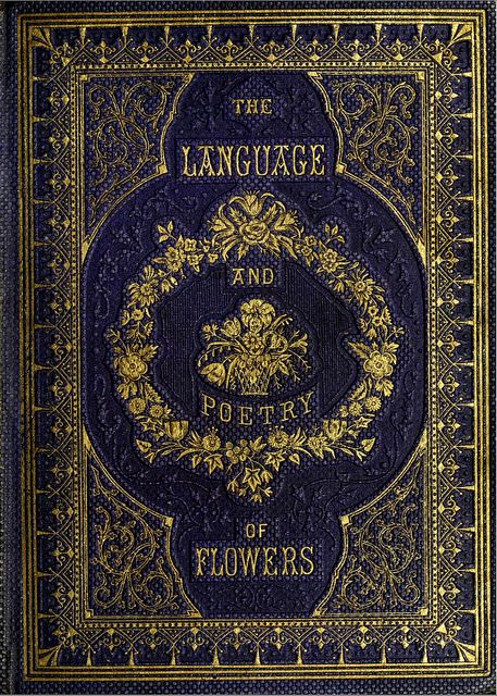 Book Cover Language of Flowers 1857 Book cover art