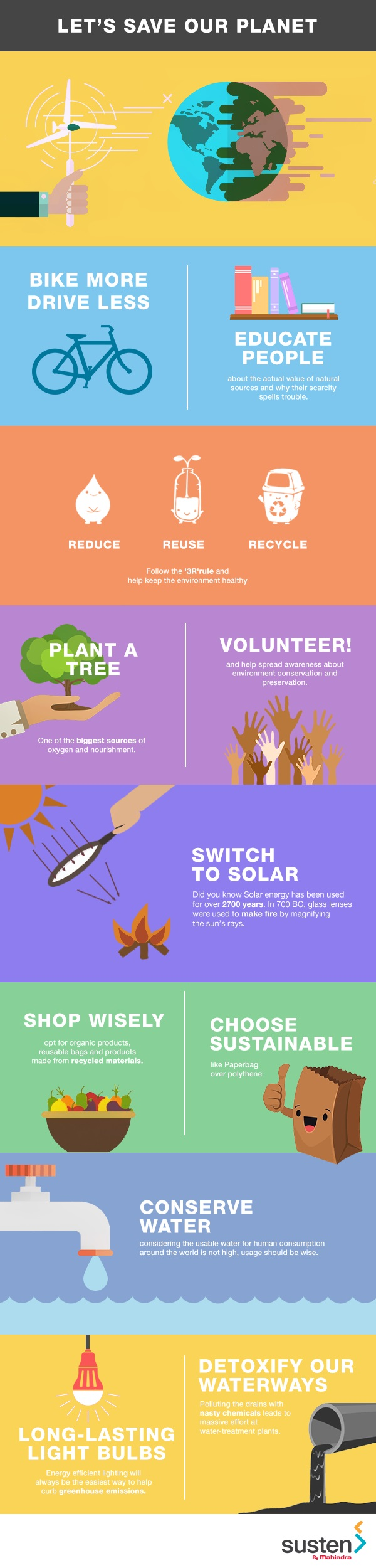 Earth Day is all about realising how precious our planet is for us and our future. Here are some tips to help keep this wonderland intact. #EarthDay