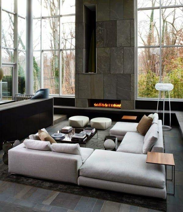 Sala grande moderna pinteres - Sofas comodos y modernos ...