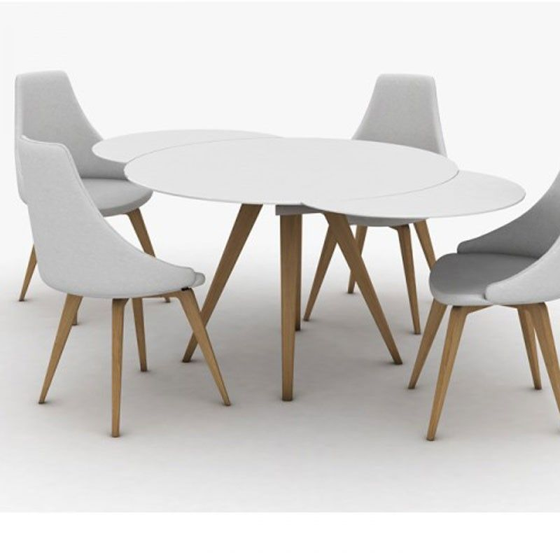 Peressini Myles Circular Extending Gl Dining Table
