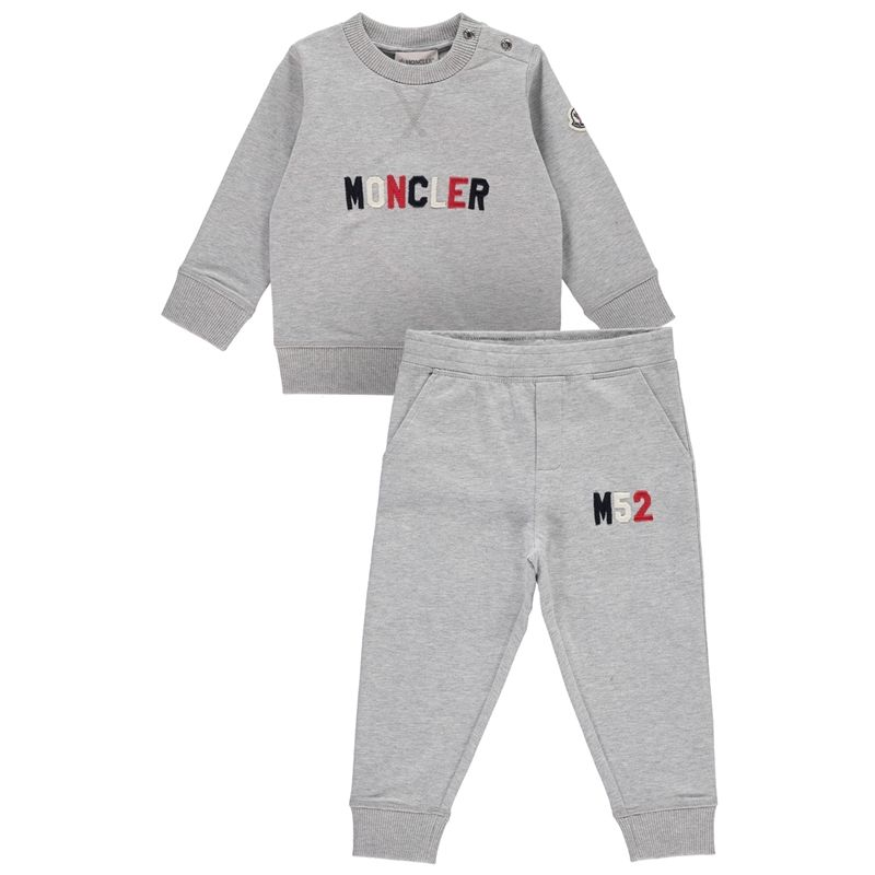 b4ef7ed3d MONCLER Baby Boys Grey Tracksuit - Jakss