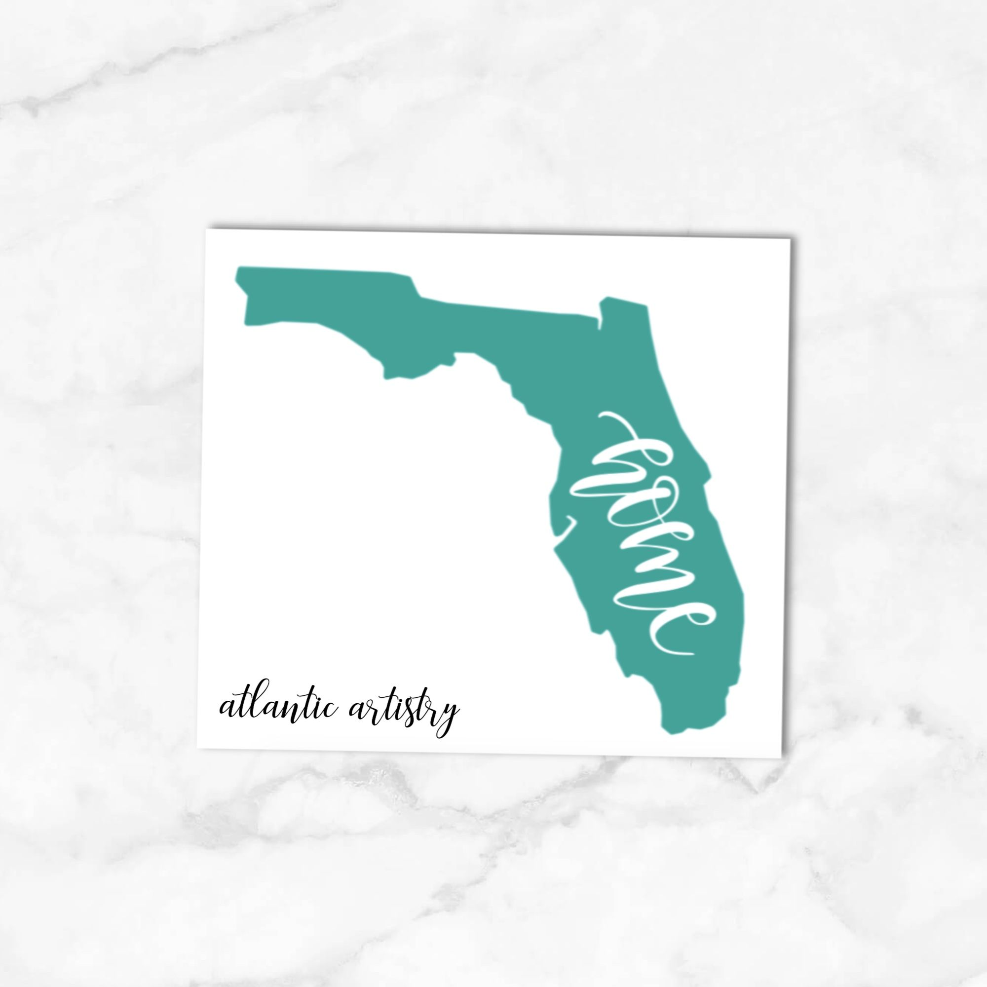 Home State Decal Home State Sticker State Decal For Laptop Etsy Custom Decals Florida Home Custom State [ 2000 x 2000 Pixel ]