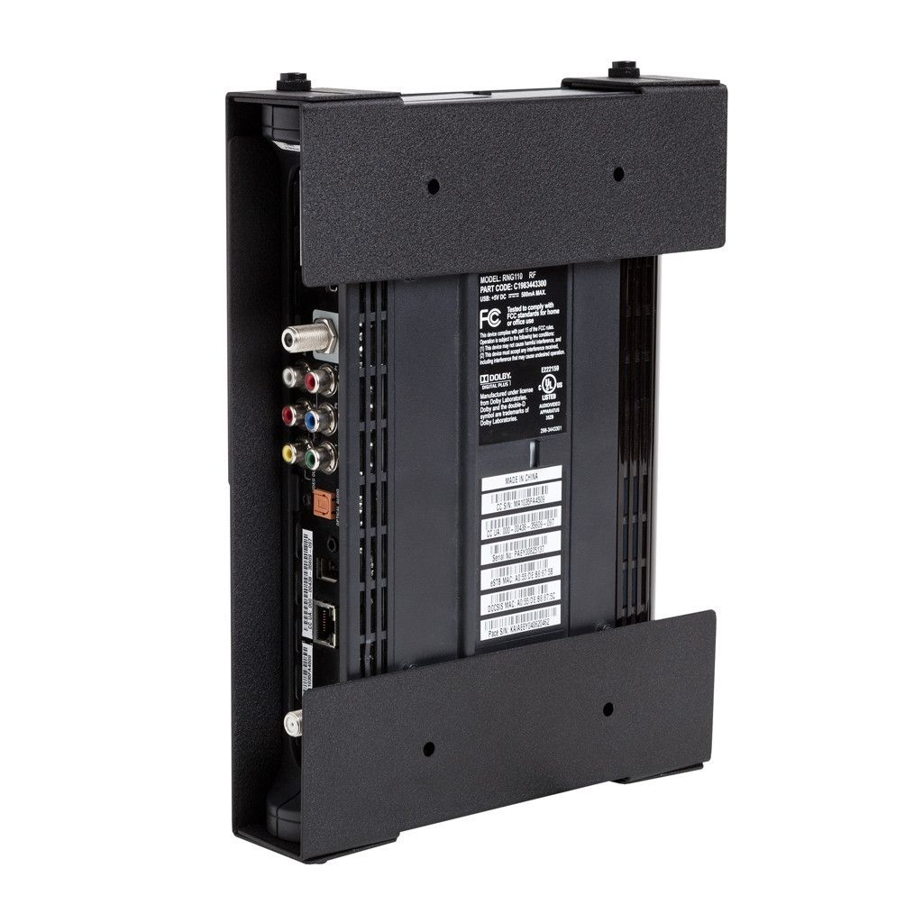 Wall Mount With Cable Box Holder Fernseher Organizer Rustikal