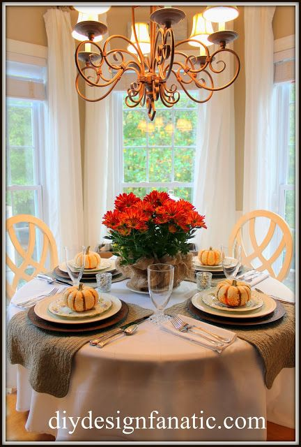 Fall Tablescape Thanksgiving Table Settings Round Table