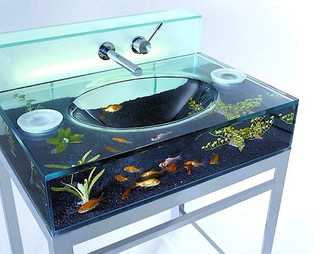 Creative Aquariums | Waschbecken design, Aquarium design und ...