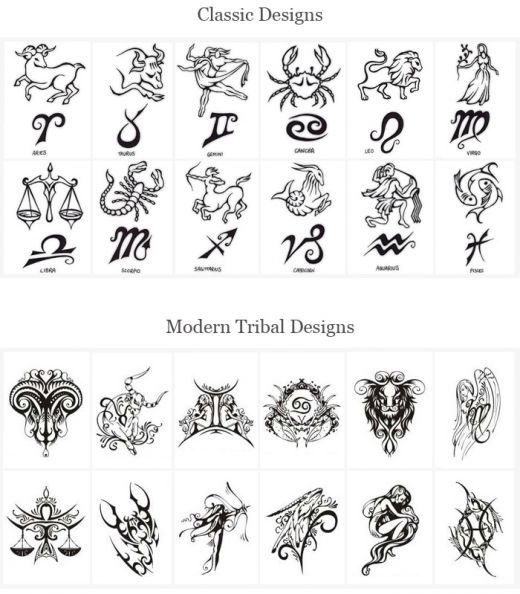 Tattoo designs of zodiac signs here are some other related also tattoos rh pinterest