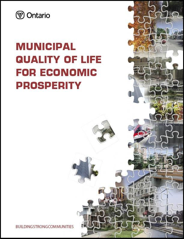 Municipal Quality Of Life For Economic Prosperity Cover Page