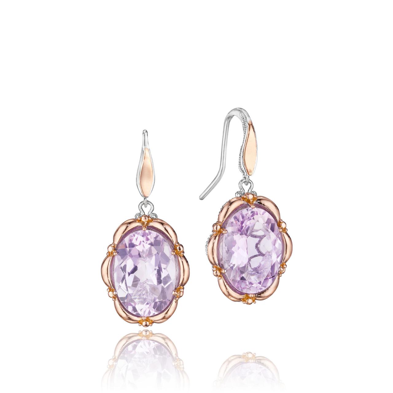 Windsor Jewelers - TACORI 18K/925 Rose Amethyst Dangle Earrings, $580.00 (http://www.windsor-jewelers.com/tacori-18k-925-rose-amethyst-dangle-earrings/)