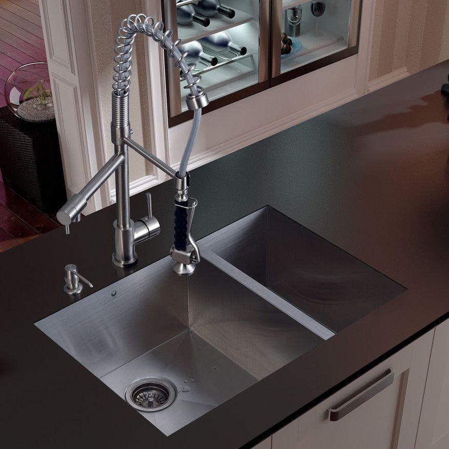 Vigo 29 X 27 Double Bowl Undermount Kitchen Sink With Fa Double Bowl Undermount Kitchen Sink Undermount Kitchen Sinks Stainless Steel Kitchen Sink Undermount