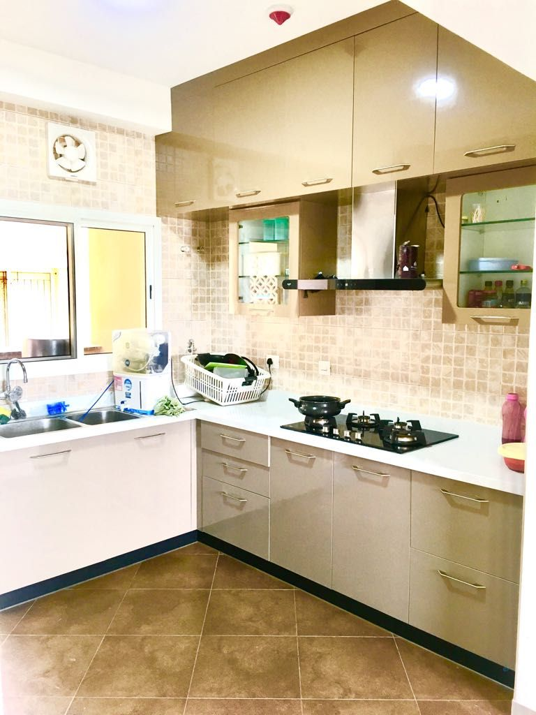 Home Design For 3bhk Flat In Sobha City Bangalore Kitchen