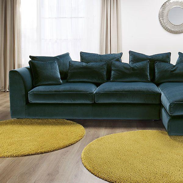 The striking Harrington Large Chaise sofa is a fantastic ...