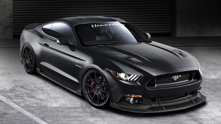 Ford Mustang Black Gt Hennessey Article On Mustang Aftermarket Roush