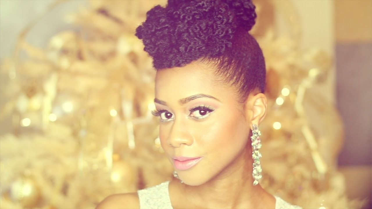 """""""Natural Hair"""" Updo Hairstyle New Year's Eve Tutorial"""